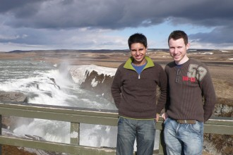 Naz and Matt in Iceland in 2008 to celebrate Matt's 30th Birthday