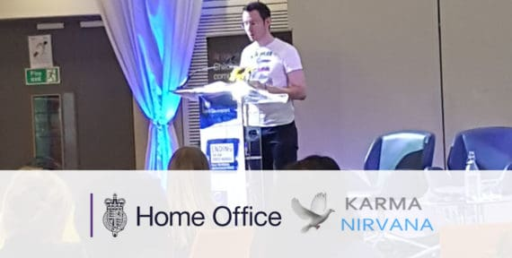 Matt speaking at Home Office Conference for Karma Nirvana