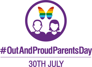 Out And Proud Parents Day logo