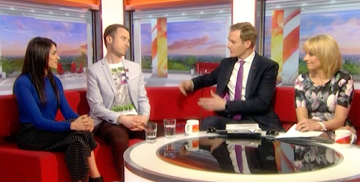 Bhavna Limbachia and Matt on BBC Breakfast Television