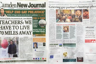 Camden New Journal - Election hustings: Partner of doctor who killed himself after coming out to family asks candidates for support with awareness campaign