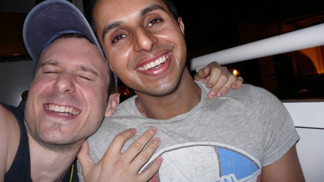 Naz & Matt in Miami, soon after getting engaged